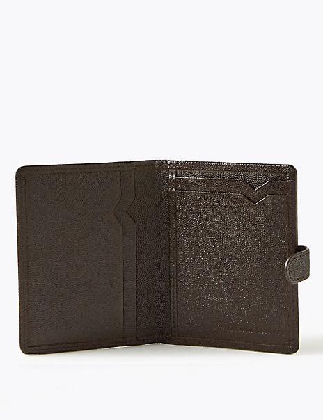 Leather Bi-fold Wallet with Cardsafe™