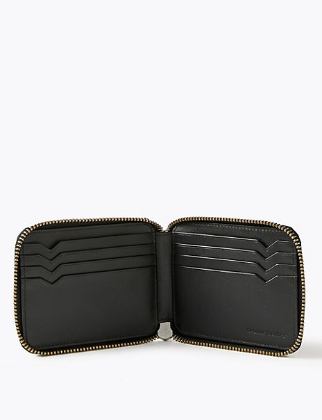Leather Bi-fold Wallet with Cardsafe™