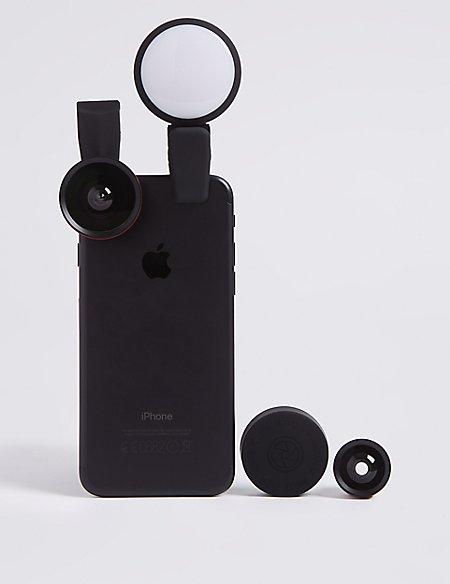 Clip On x3 Lens and Light Kit