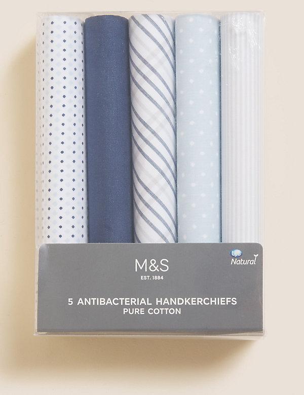 5pk Pure Cotton Handkerchiefs