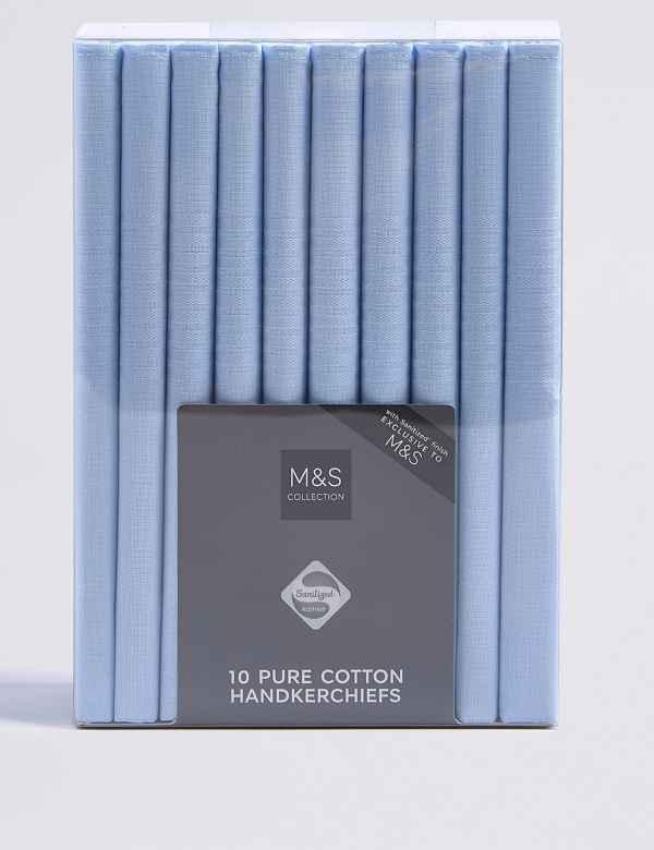 dbead4e6e9a1e 10 Pack Pure Cotton Handkerchiefs with Sanitized Finish®