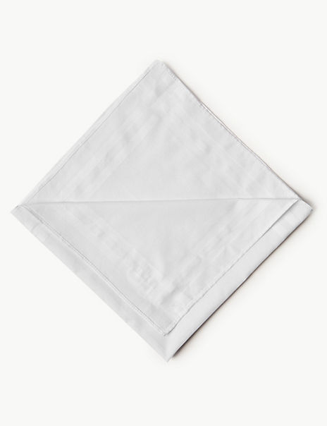 7 Pack Supima® Cotton Handkerchiefs with Sanitized Finish®