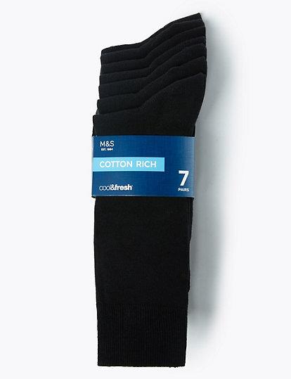 Cool Fresh Lot De 7 Paires De Chaussettes En Coton