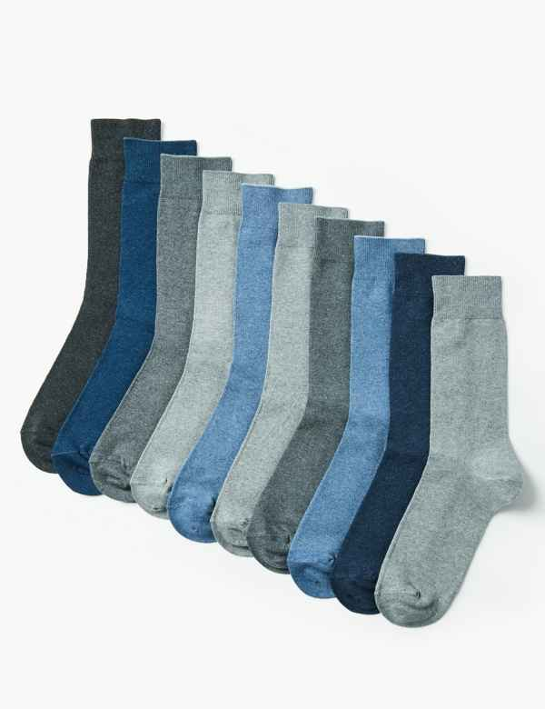 10 Pack Cool & Freshfeet™ Cotton Rich Socks