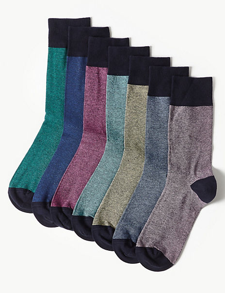 7 Pack Cool & Freshfeet™ Cotton Rich Socks