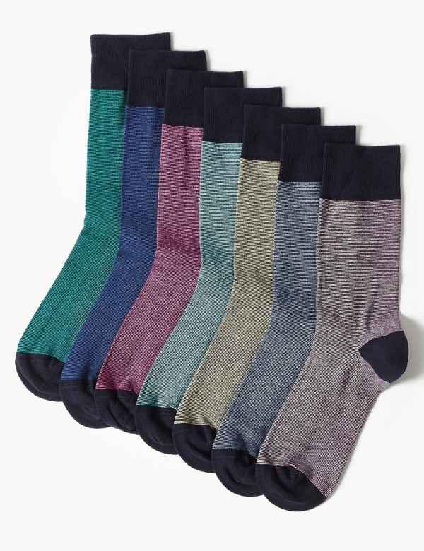 2641ad933d46a 7 Pack Cool & Freshfeet™ Cotton Rich Socks