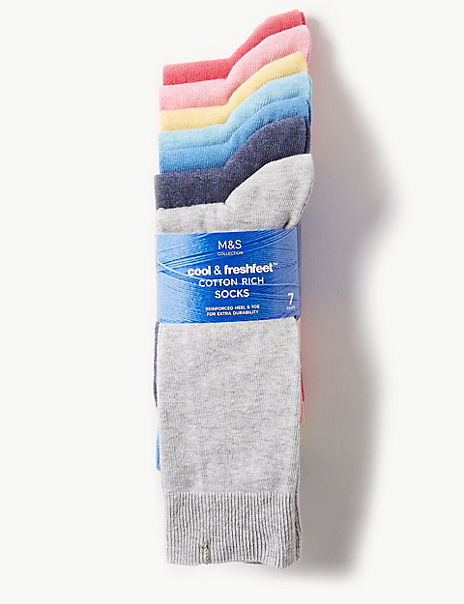 7 Pack Cotton Rich Cool & Freshfeet™ Socks
