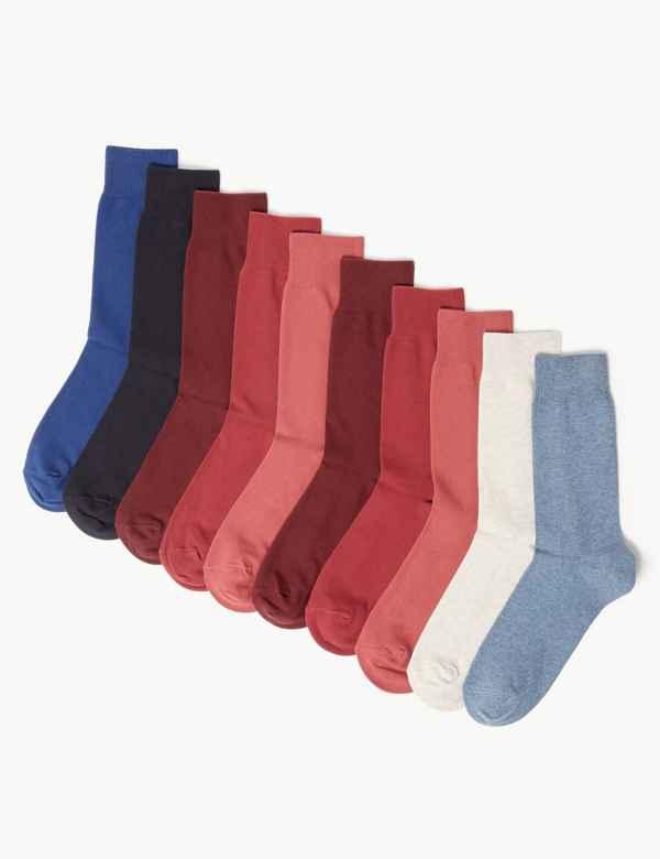 f15a2408f4ed 10 Pack Cool & Fresh™ Cotton Socks