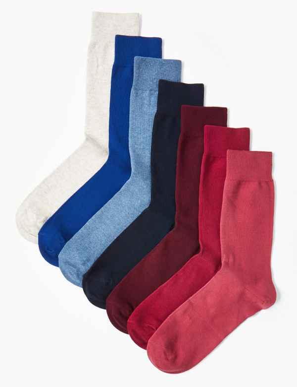 0d05a50e62f0 7 Pack Cool & Fresh™ Cotton Socks