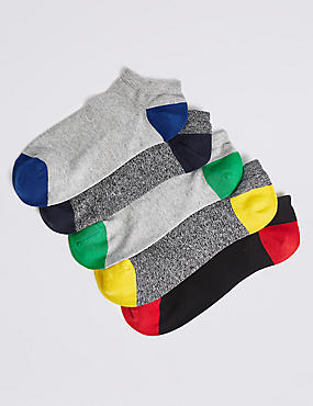 5 Pack Cool & Freshfeet™ Cotton Rich Trainer Liner Socks