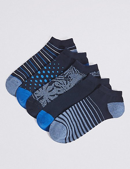 5 Pack Cool & Freshfeet™ Trainer Liner Socks