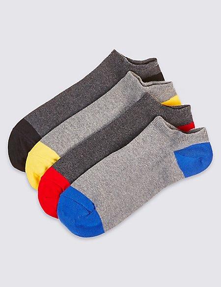 4 Pack Cool & Freshfeet™ Trainer Liner Socks