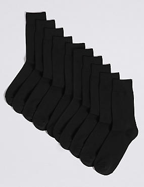 10 Pack Cotton Rich Socks