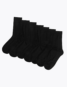 7 Pack Cotton Blend Socks