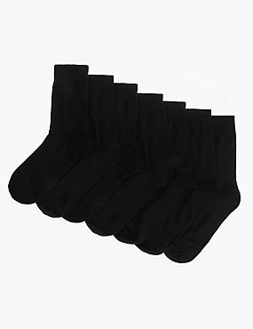 7 Pack Cotton Blend Socks