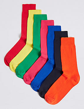 7 Pack Bright Freshfeet™ Socks