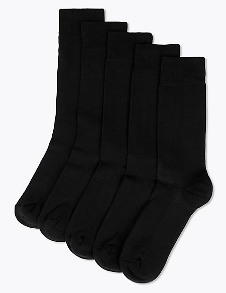 5 Pack Cool & Freshfeet™ Cushioned Sole Socks