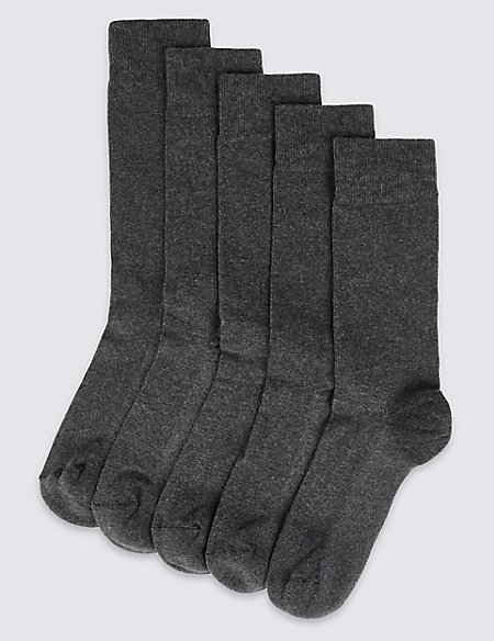 5 Pack Cool & Fresh™ Cushioned Sole Socks