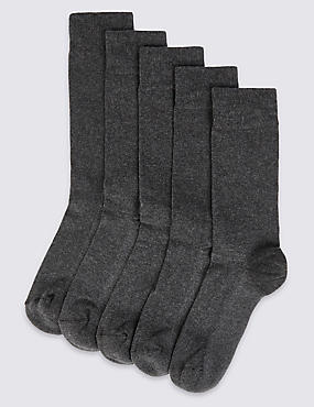 5 Pack Cool & Freshfeet™ Cushioned Sole Socks