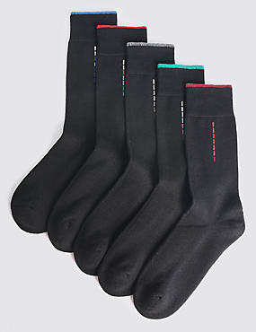 5 Pack Cool & Freshfeet™ Cotton Rich Socks
