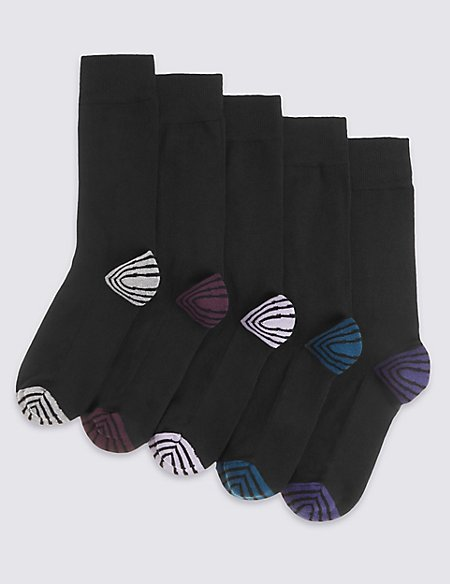 5 Pairs of Freshfeet™ Cushioned Sole Socks