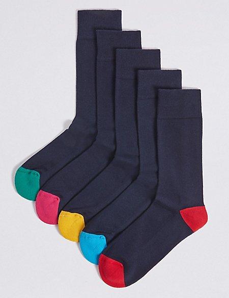 5 Pack Cotton Rich Cool & Freshfeet™ Socks