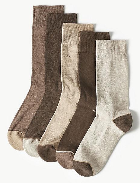 5 Pack Cool & Freshfeet™ Cushioned Socks