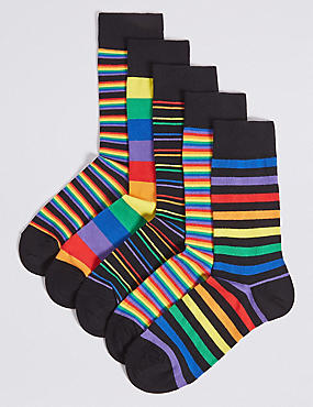 5 Pack Cotton Rich Cool & Freshfeet™ Socks