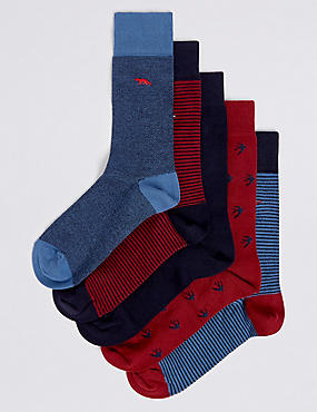 5 Pack Cool & Freshfeet™ Cotton Rich Socks