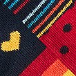 5 Pack Cool & Freshfeet™ Assorted Socks, NAVY MIX, swatch