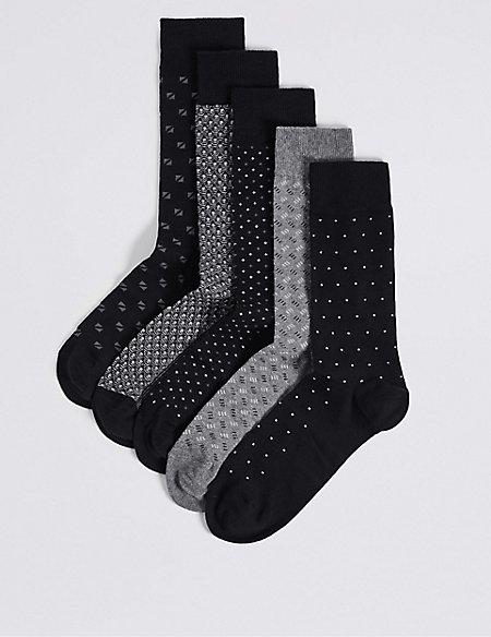 5 Pack Cool & Freshfeet™ Assorted Socks