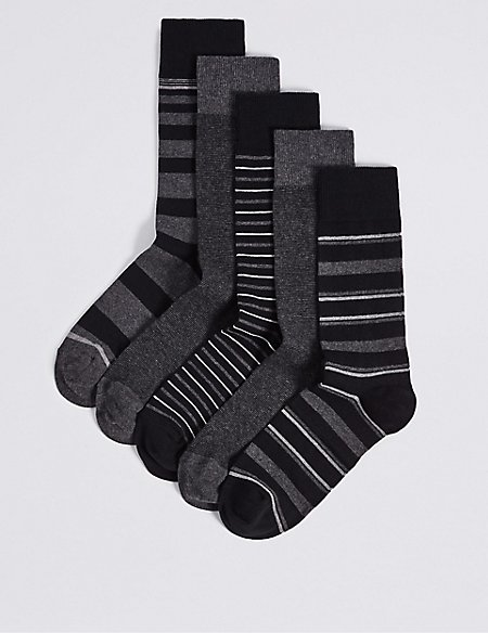 5 Pack Cool & Freshfeet™ Assorted Socks