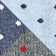 3 Pack Cool & Freshfeet™ Polka Dot Socks, BLUE MIX, swatch