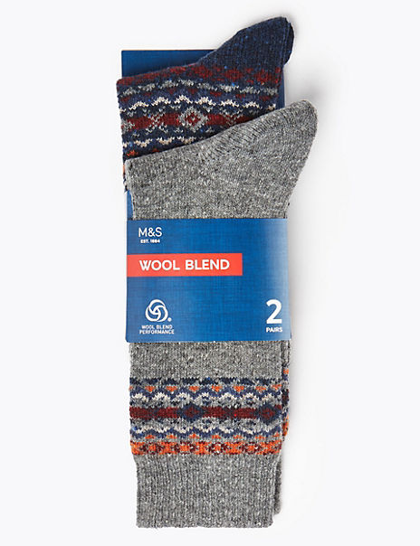 2 Pack Wool Thermal Socks