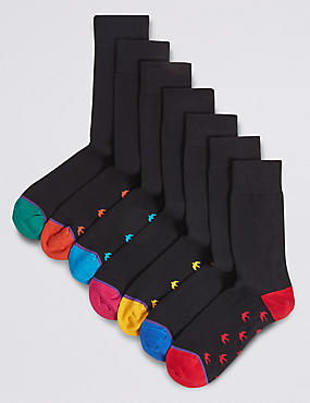 7 Pack Cotton Rich Cool & Freshfeet™ Socks