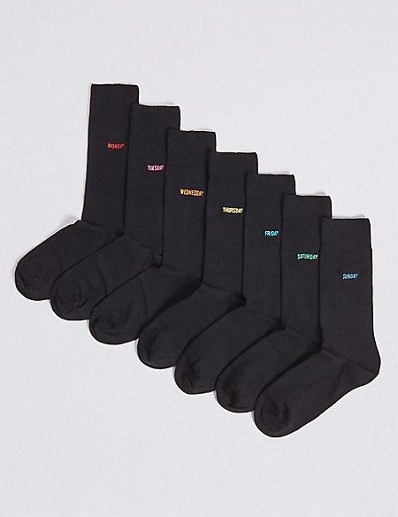 7 Pack Days of the Week Freshfeet™ Socks