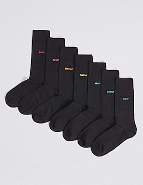 7 Pack Days of the Week Freshfeet™ Socks