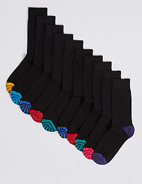 10 Pack Cool & Freshfeet™ Cotton Rich Socks