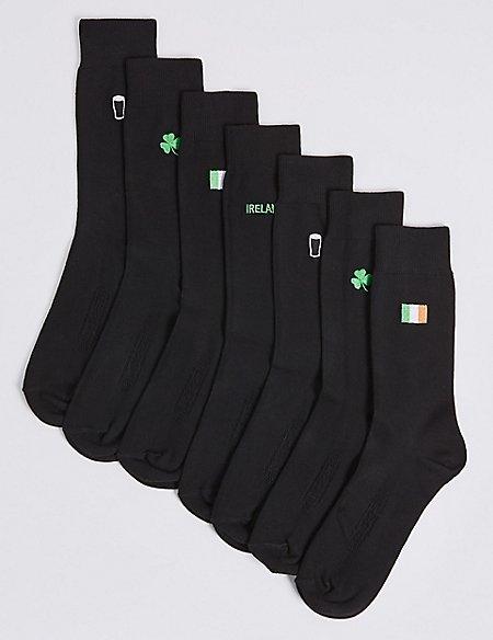 7 Pack Ireland Design Freshfeet™ Socks
