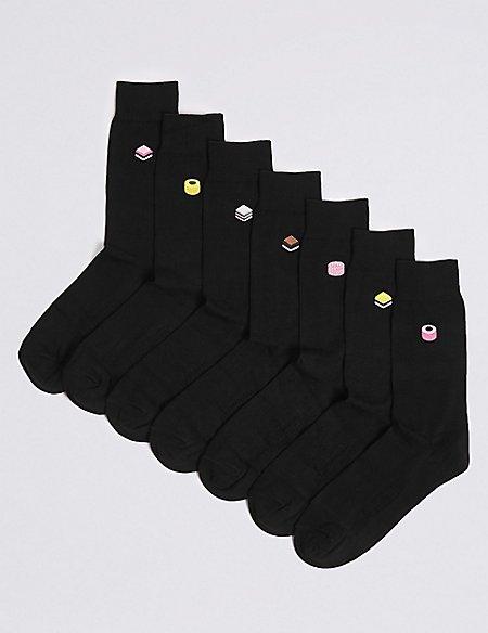 7 Pack Liquorice Design Freshfeet™ Socks