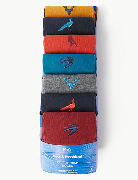 7 Pack Cool & Fresh™ Embroidered Socks