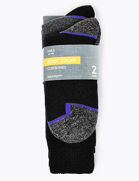 2 Pack Freshfeet™ Heavy Weight Workwear Socks