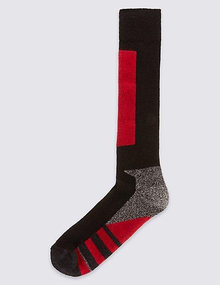 Wool Blend Knee High Ski Socks