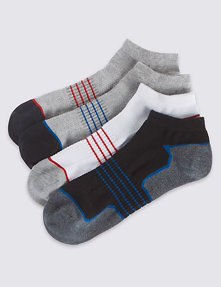 4 Pack Cool & Fresh™ Trainer Liner Socks