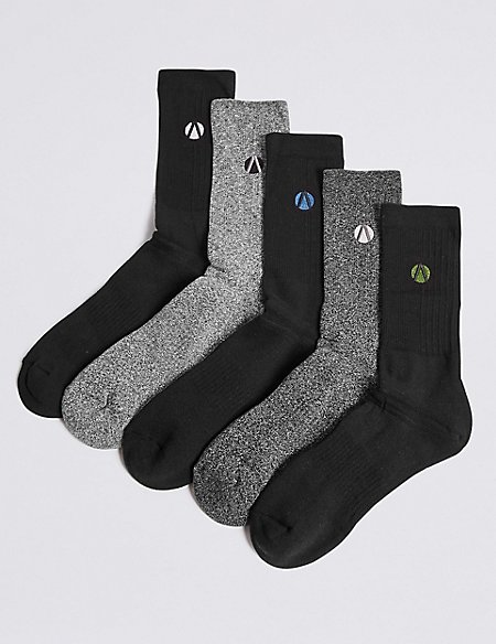 5 Pack Cotton Rich Sports Socks