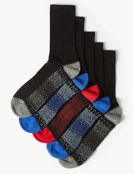 5 Pack Cool & Fresh™ Cushioned Sports Socks