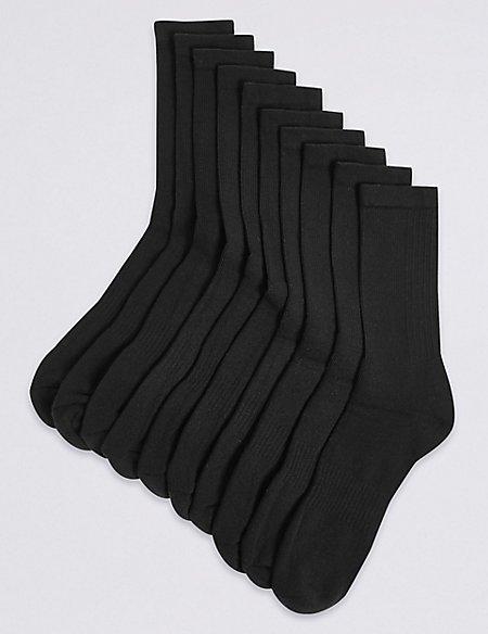 10 Pack Cotton Rich Sports Socks