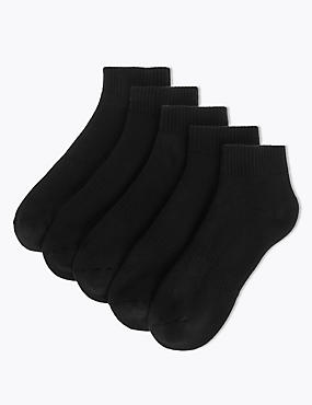 5 Pack Cool & Fresh Quarter Socks