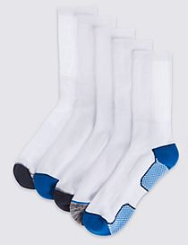 5 Pairs of Cool & Fresh™ Heel & Toe Socks