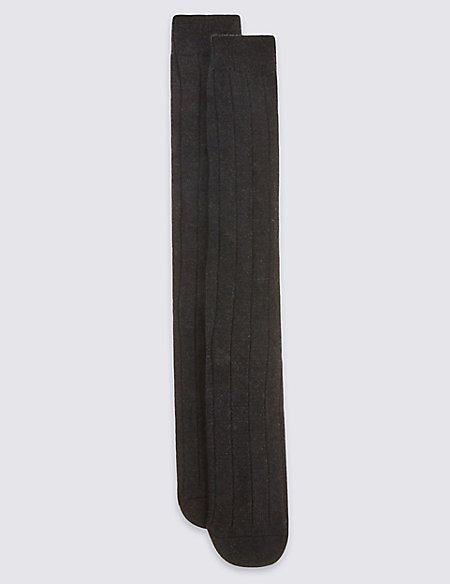2 Pack Long Wool Blend Thermal Socks